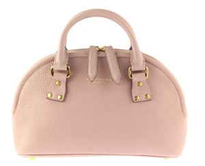 Burberry Bloomsbury Leather Satchel in Light Mauve