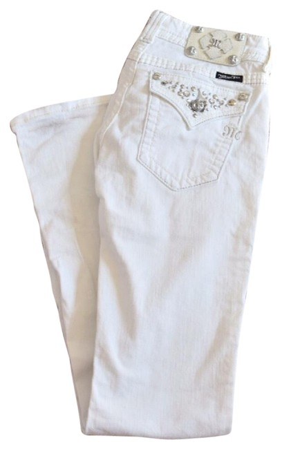 Item - White Light Wash Boot Cut Jeans Size 28 (4, S)