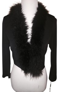 Calvin Klein Shawl Cover Up Shrug Feathers Dress
