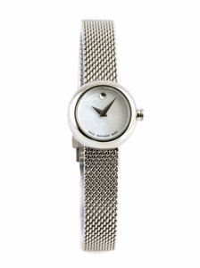 Movado Movado Silver Stainless Mesh Strap Mother of Pearl 0606705 Watch