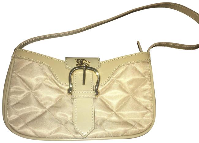 Item - Patent Tan Nylon Quilted Wristlet