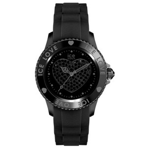 Ice LO.BK.B.S.11 Women's Black Silicone Band With Black Analog Dial Watch