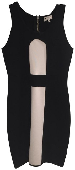 MILLY Black and White Body Con Stretch Sheath Short Cocktail Dress Size 6 (S) MILLY Black and White Body Con Stretch Sheath Short Cocktail Dress Size 6 (S) Image 1