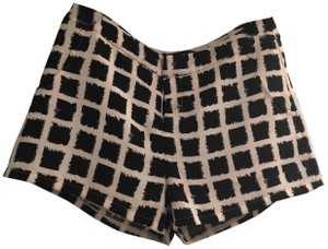 Blaque Label Checkered Mini/Short Shorts Black and white