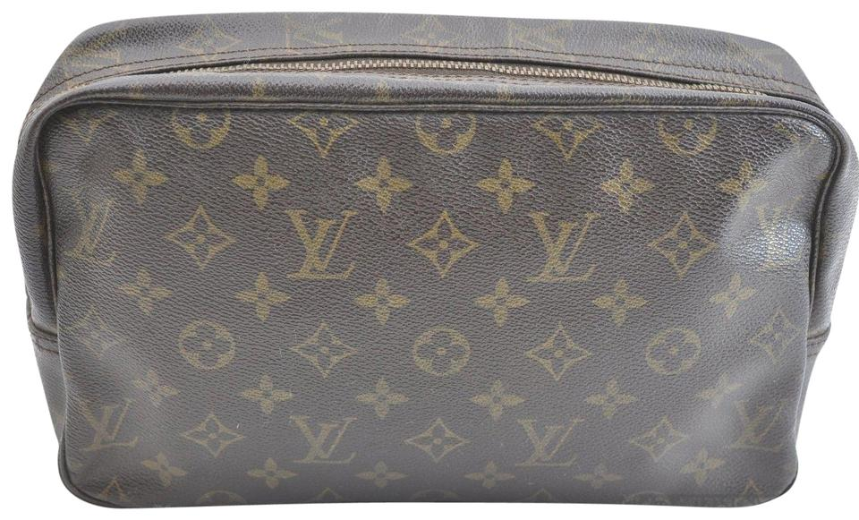 Louis Vuitton Authentic Monogram Trousse Toilette 28 Clutch Bag M47524 pouch  ... 9cef392a938c0