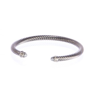 David Yurman Cable Classics Bracelet with Pearl 5mm Size Medium $625 NWOT