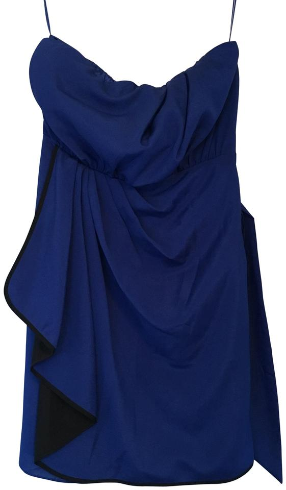 0b724fd92f9 Express Royal Blue   Black Short Night Out Dress Size 4 (S) - Tradesy