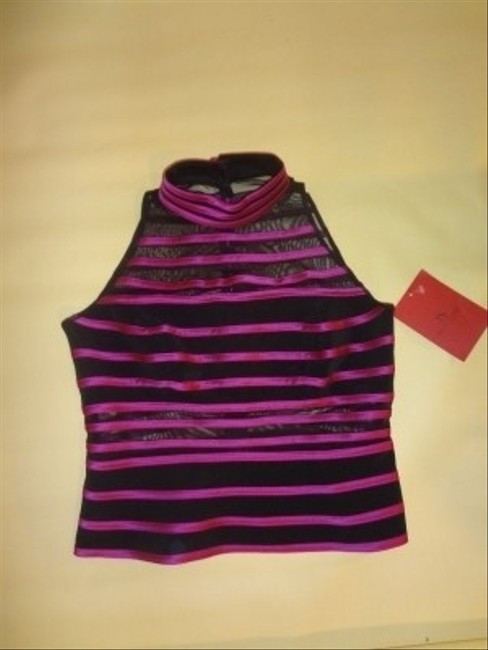 JS Collections Top black and fuschia