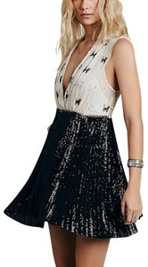 Free People Plunging Lace Mini High Low Party Fp New Romantic Wedding Guest Boho Dress
