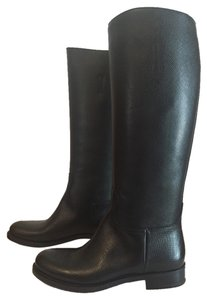 Prada Saffiano Riding Boot Bags Black Boots