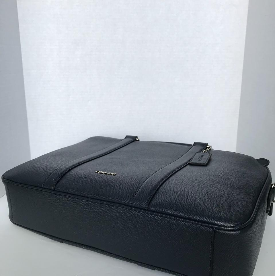 8e3c3beefd16 Coach Perry Slim Brief In Crossgrain Midnight Leather Laptop Bag ...