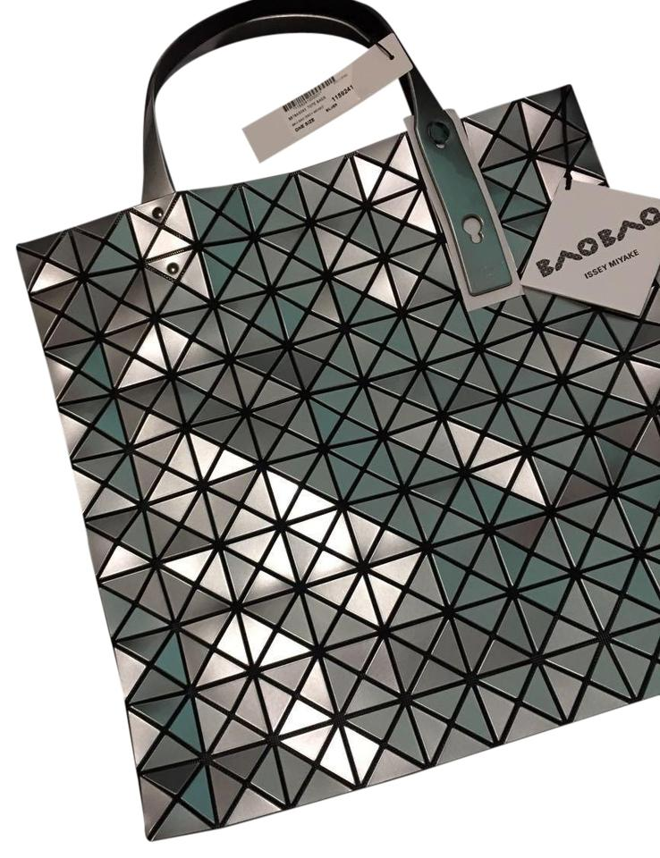 Issey Miyake Bao Pvc Tote In Silver