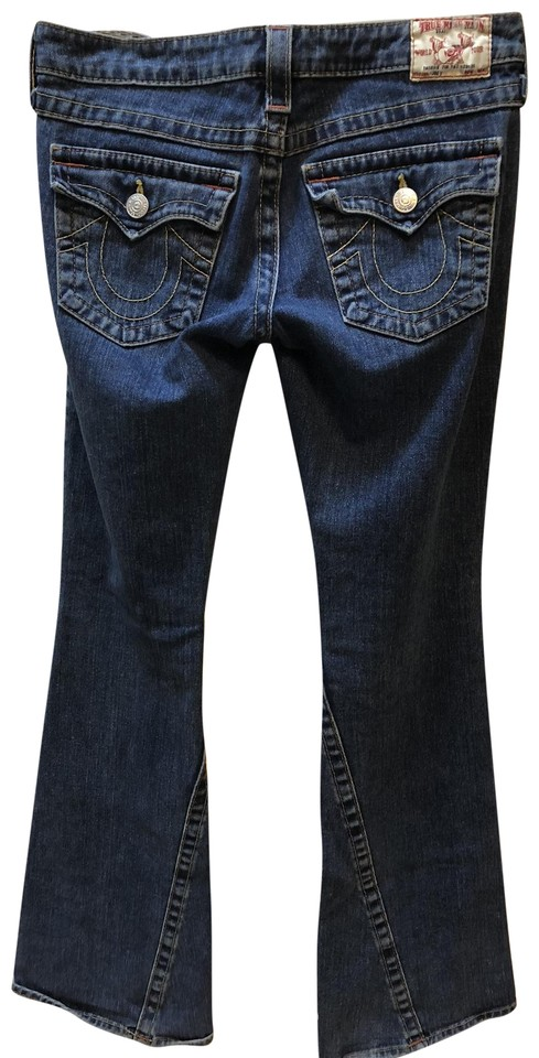 ea68e368ea0565 True Religion Blue Medium Wash Rn  112790. Ca 30427 Flare Leg Jeans ...