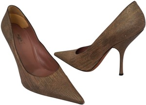 ALAÏA Paris Classic Python Snakeskin Designer Neutral Brown Pumps