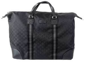 Gucci Carry On Duffle Black Travel Bag