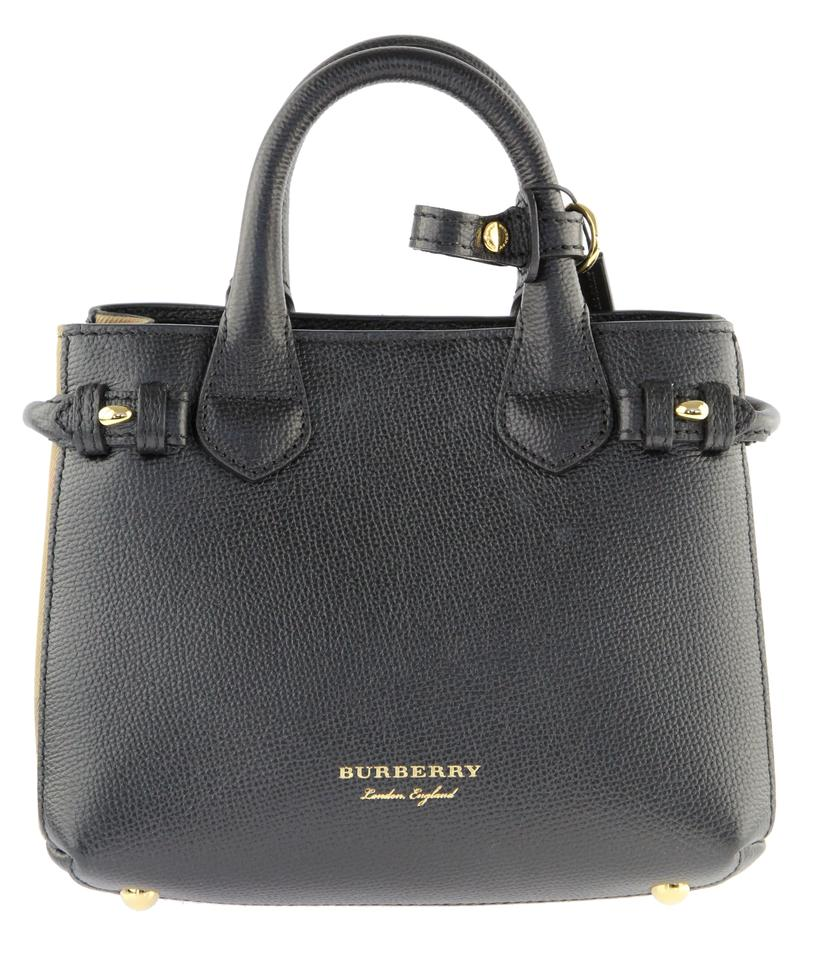 cf7868ed9e5a Burberry Baby Banner Black Calfskin Leather Satchel - Tradesy