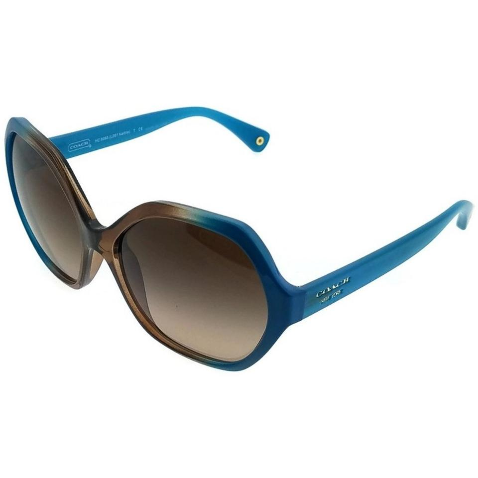 7375ef3c2d20 ... ireland coach hc8065 513313 womens teal frame brown lens genuine  sunglasses 8da8b 0c23f
