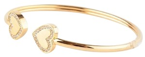 Michael Kors MICHAEL KORS Gold Tone Pave Heart Bangle Bracelet