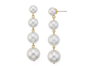 Rebecca Minkoff Gold Pearl and Statement Drop Earrings
