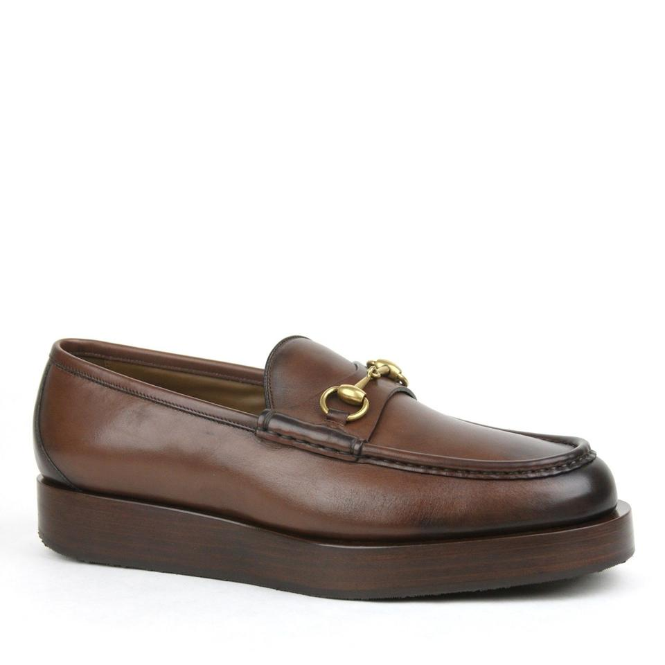 30b6da35e8a6 Gucci Brown Horsebit Mens Shaded Leather Platform Loafer 11.5 Us 12.5  353043 2140 Shoes Image ...