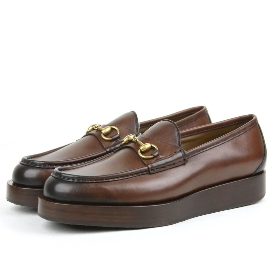 d1ab4bba1527 Gucci Brown Horsebit Mens Shaded Leather Platform Loafer 11.5 Us 12.5  353043 2140 Shoes - Tradesy