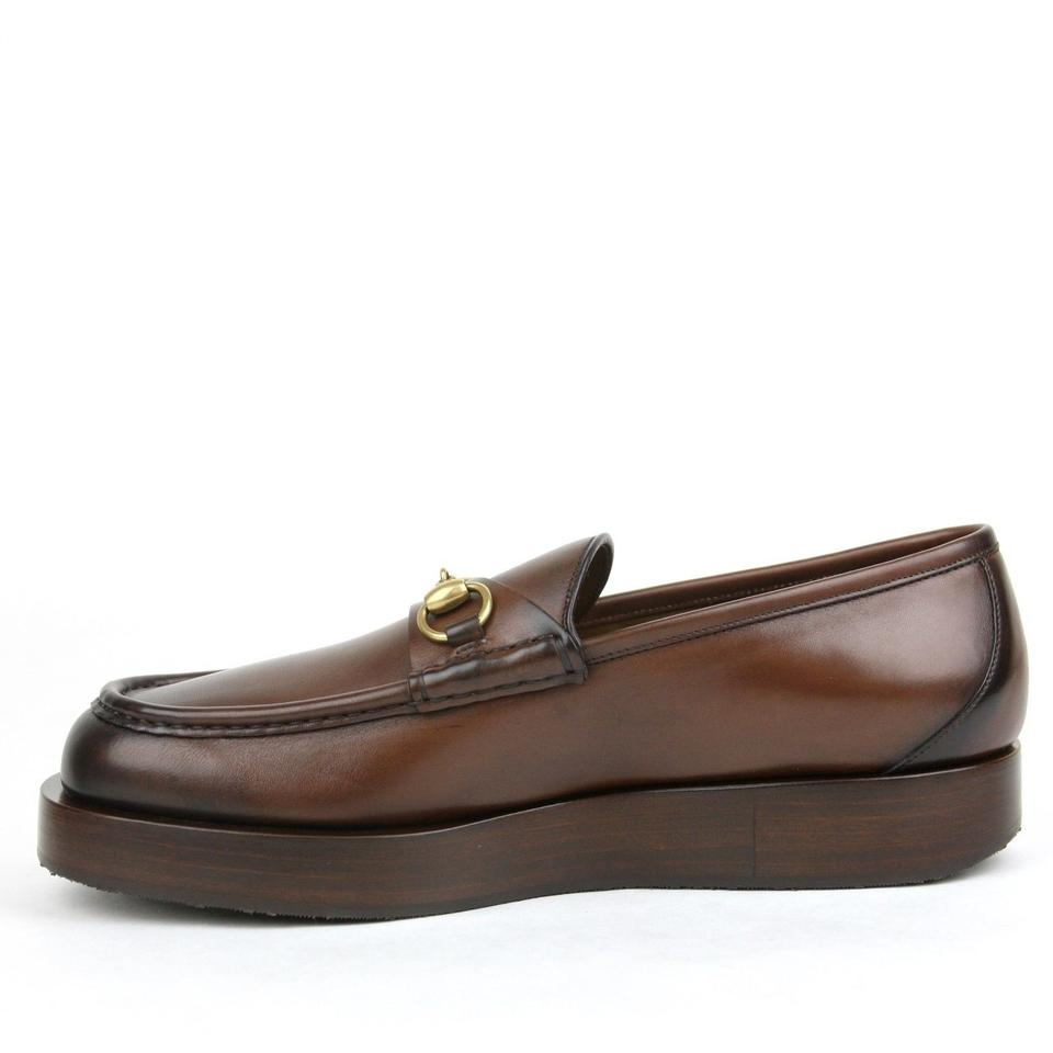 4216e4686 Gucci Brown Horsebit Mens Shaded Leather Platform Loafer 11.5/Us 12.5 353043  2140 Shoes Image. 1234567