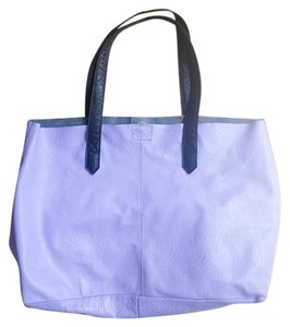 TopShop Geniune Leather Leather Simple Casual Chunky Modern Tote in lavender