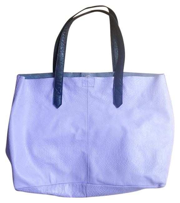 Item - Simple Casual Chunky Modern Lavender Genuine Leather Tote