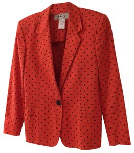 Genny red with black polka dots Jacket