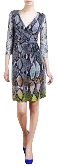Item - Multicolor Jersey Dvf New Julian Two Silk Wrap Python Print Mid-length Casual Maxi Dress Size 0 (XS)