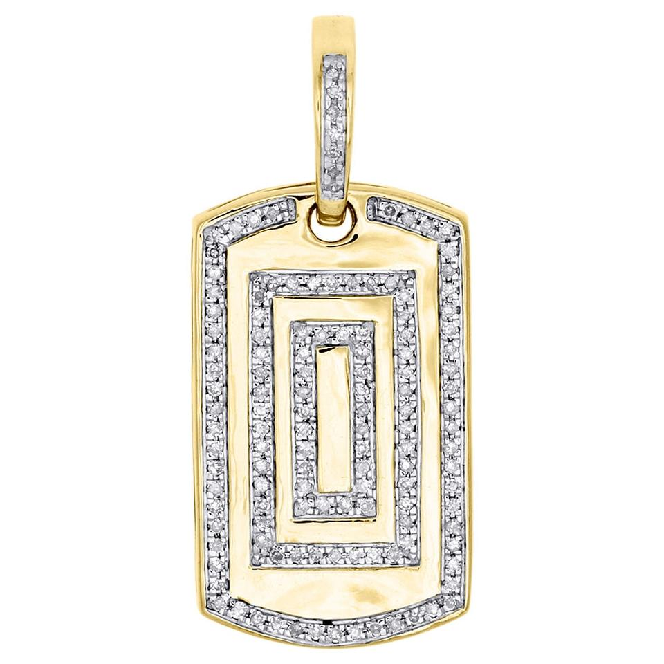 Jewelry for less yellow gold 10k diamond dog tag pendant 135 mens jewelry for less 10k yellow gold diamond dog tag pendant 135 mozeypictures Images