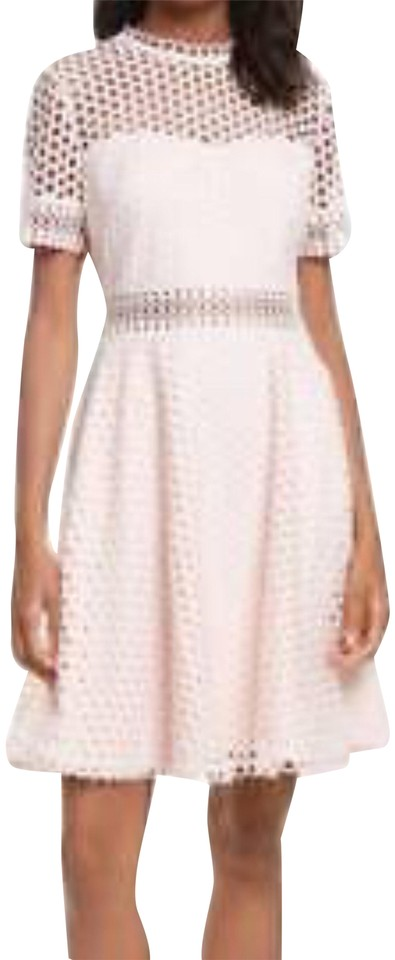be13a9e8c Ted Baker Pink Graycee Lace Skater Mid-length Cocktail Dress Size 12 ...