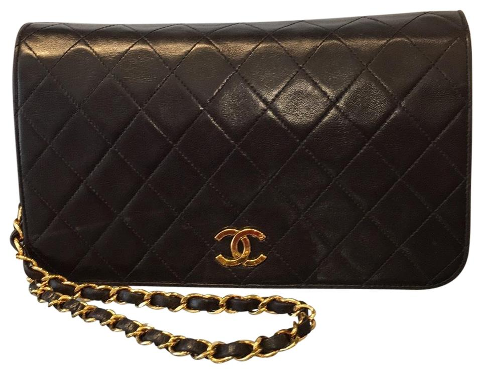 01bdeea26e4c Chanel Classic Quilted Small Single Flap 5418 Black Lambskin Leather Cross  Body Bag