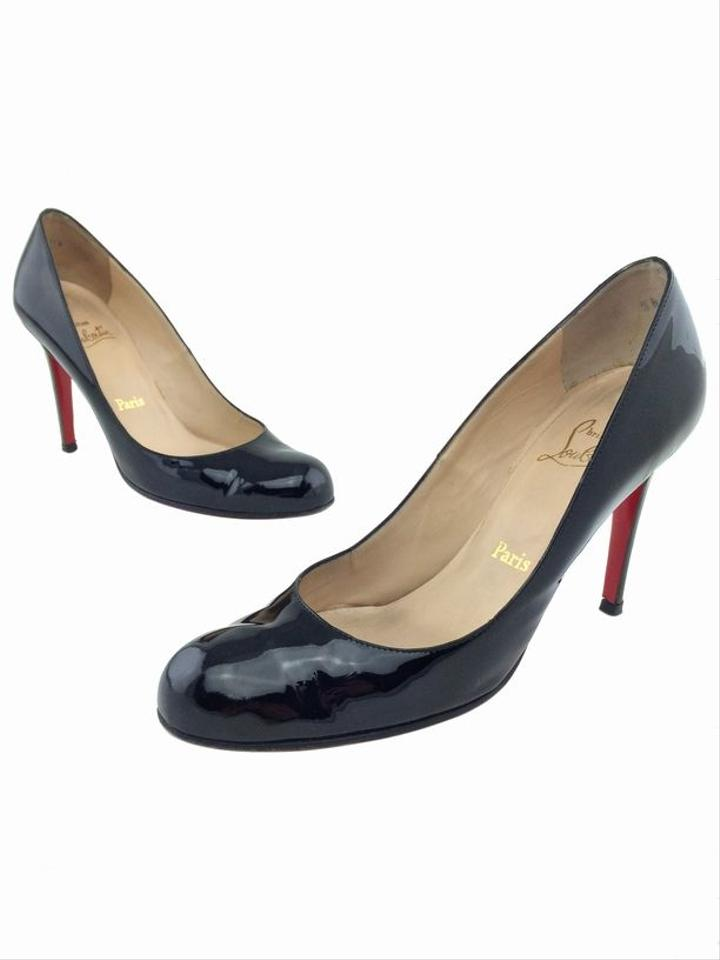Christian Louboutin Round Toe Patent Leather Pumps
