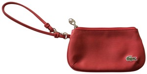 Lacoste Silver Sport Comfy Textured Wristlet in Red