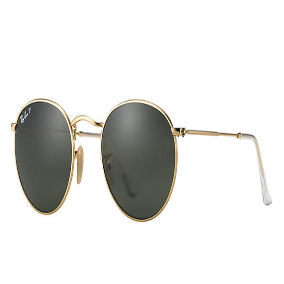fc6223a4c3 Ray-Ban Green New Rb3447 001 50mm Round Classic G-15 Lens Gold Frame ...