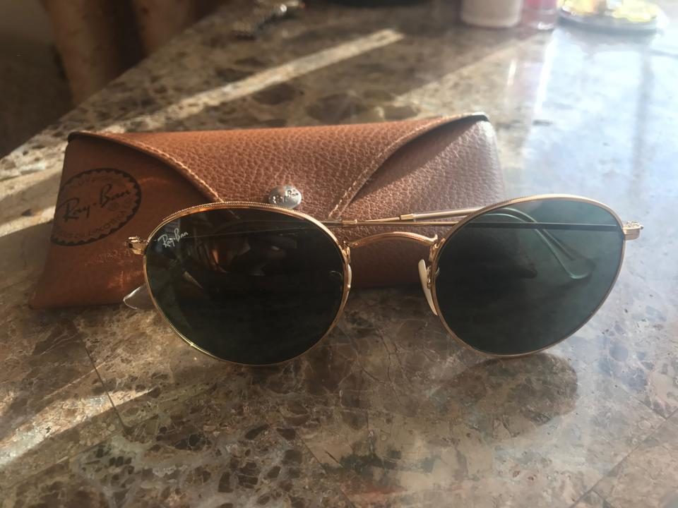 5b00272f36 Ray-Ban Green New Rb3447 001 50mm Round Classic G-15 Lens Gold Frame ...