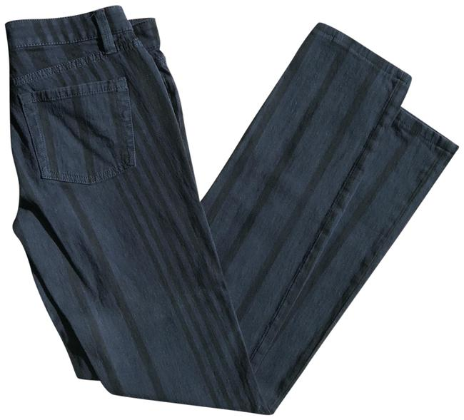 Marc by Marc Jacobs Twilight Navy Multi Dark Rinse Striped M1111044 Straight Leg Jeans Size 26 (2, XS) Marc by Marc Jacobs Twilight Navy Multi Dark Rinse Striped M1111044 Straight Leg Jeans Size 26 (2, XS) Image 1