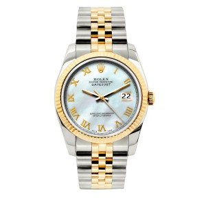 Rolex 36mm Datejust 2-tone with Box & Appraisal Watch