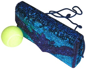PurseN Evening After Five Party Formal Special Occasion Blue Clutch