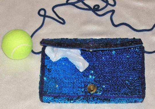 PurseN Evening After Five Party Formal Special Occasion Blue Clutch Image 2