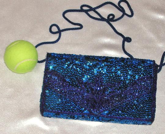 PurseN Evening After Five Party Formal Special Occasion Blue Clutch Image 3