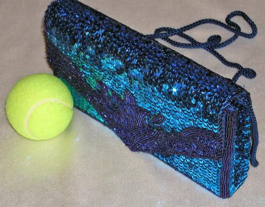 PurseN Evening After Five Party Formal Special Occasion Blue Clutch Image 5