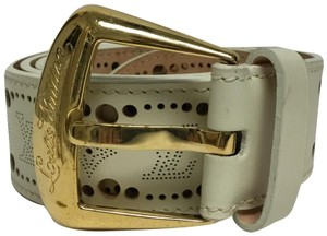 Louis Vuitton Cream Nomade Phoenix belt