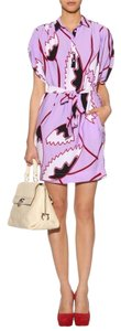 Diane von Furstenberg short dress Lavender, Black, White, Red Dvf Carmina Petal Ruffle Silk on Tradesy