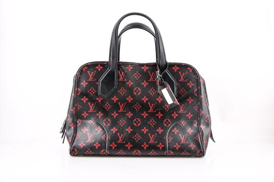 Louis Vuitton Dora Limited Red Monogram Infrarouge Mm Black Coated ... 04f7a1ba1c7e0
