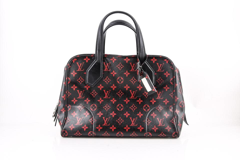 Louis Vuitton Dora Limited Red Monogram Infrarouge Mm Black Coated Canvas  Tote - Tradesy b1d6dd4a3bcc8
