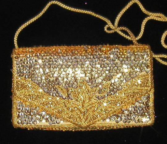 PurseN Evening After Five Party Formal Special Occasion Gold Clutch Image 4