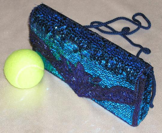 PurseN Evening After Five Party Formal Special Occasion Purple Clutch Image 3