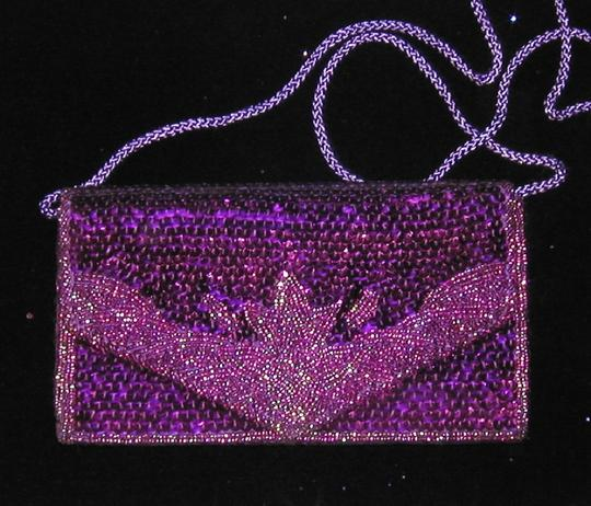 PurseN Evening After Five Party Formal Special Occasion Purple Clutch Image 4